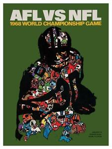 Green-Bay-Packers-vs-Oakland-Raiders-LARGE-POSTER-1968-Football-SUPER-BOWL-II