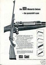 1967 BSA Galef Monarch Deluxe Rifle Print Ad  -the gunsmith's gun