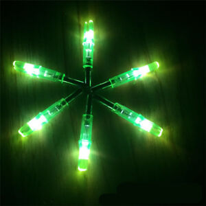 4 color 6PC Shooting Archery Lighted Nock LED Arrow Nock 6.2mm For Compound Bow