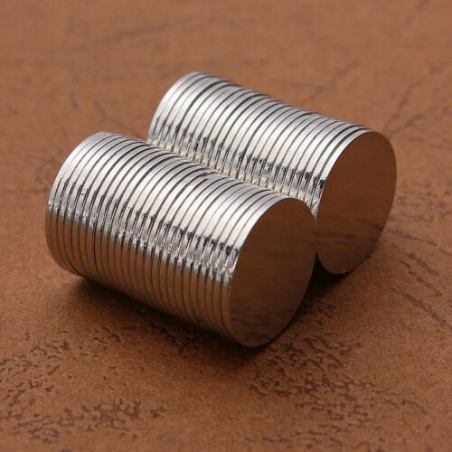 50Pcs 15x1mm N50 Super Strong Neodymium Round Disc Rare Earth Fridge Magnets