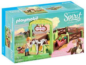 9480-Playmobil-Spirit-Horse-Box-034-Abigail-amp-Boomerang-034-esprit-Riding-Free-suitabl