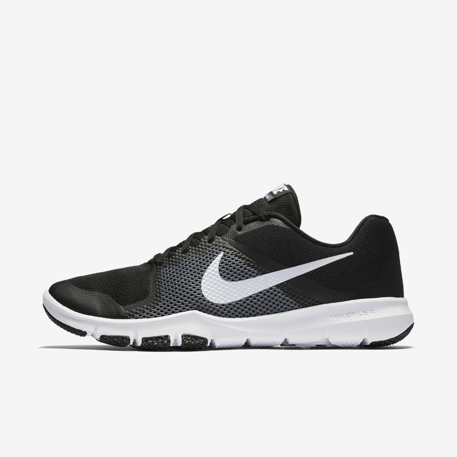 NIKE MEN'S FLEX CONTROL SIZE 15 010 black white grey 898459 010 15 8db729
