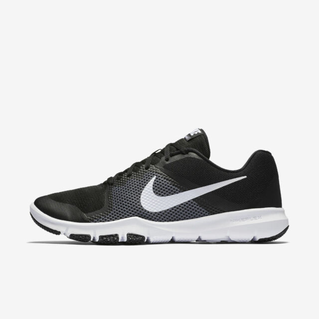 32cfdf41a89 Nike Men s Flex Control Shoes Size 14 Black White Grey 898459 010