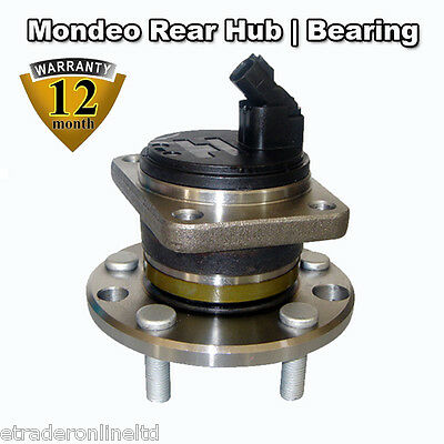 WITH BOLTS Ford Mondeo Mk3 2000-2007 Rear Wheel Hub Bearing Kit OE QUALITY