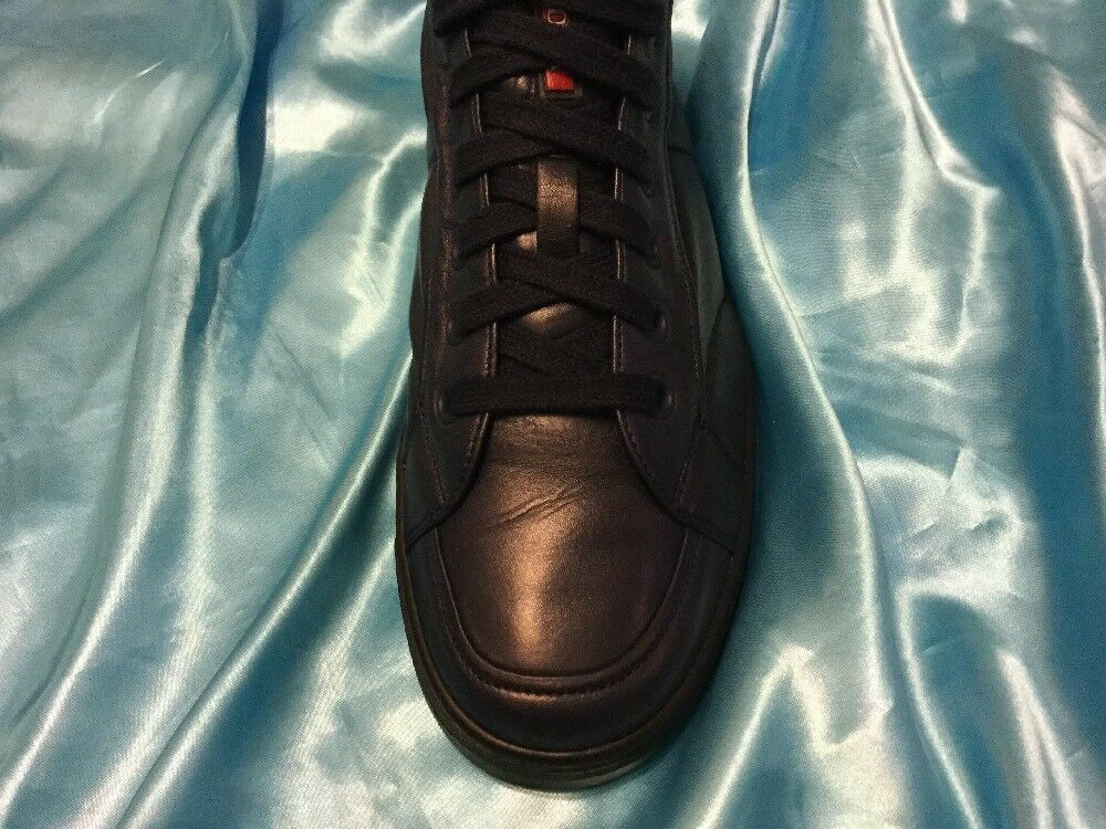 Men's bluee Pre Own Italian Leather Prada shoes Pristine Cond Size US 10.5