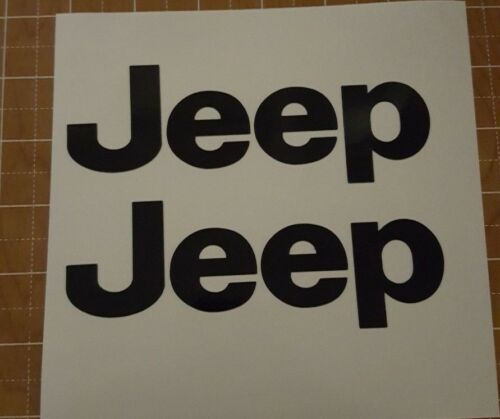 2pack Black Or Silver Jeep 3m reflective vinyl decal
