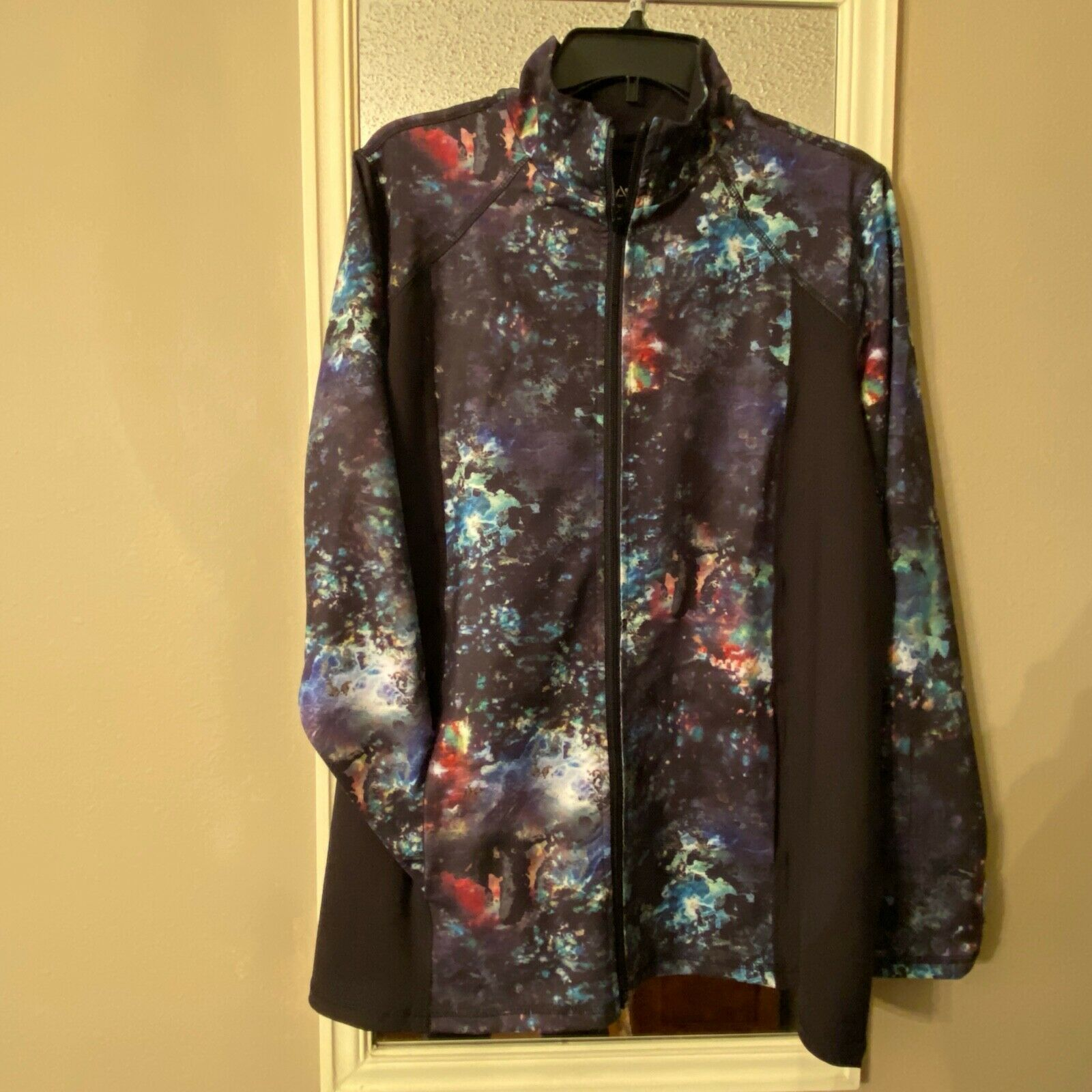 Avenue Top Full Zip Long Sleeve Floral 2 Pockets
