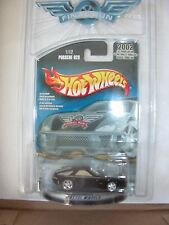 2002  HOT WHEELS  FINAL RUN PORSCHE 928 W/REAL RIDER TIRES MOC BLACK 1/12