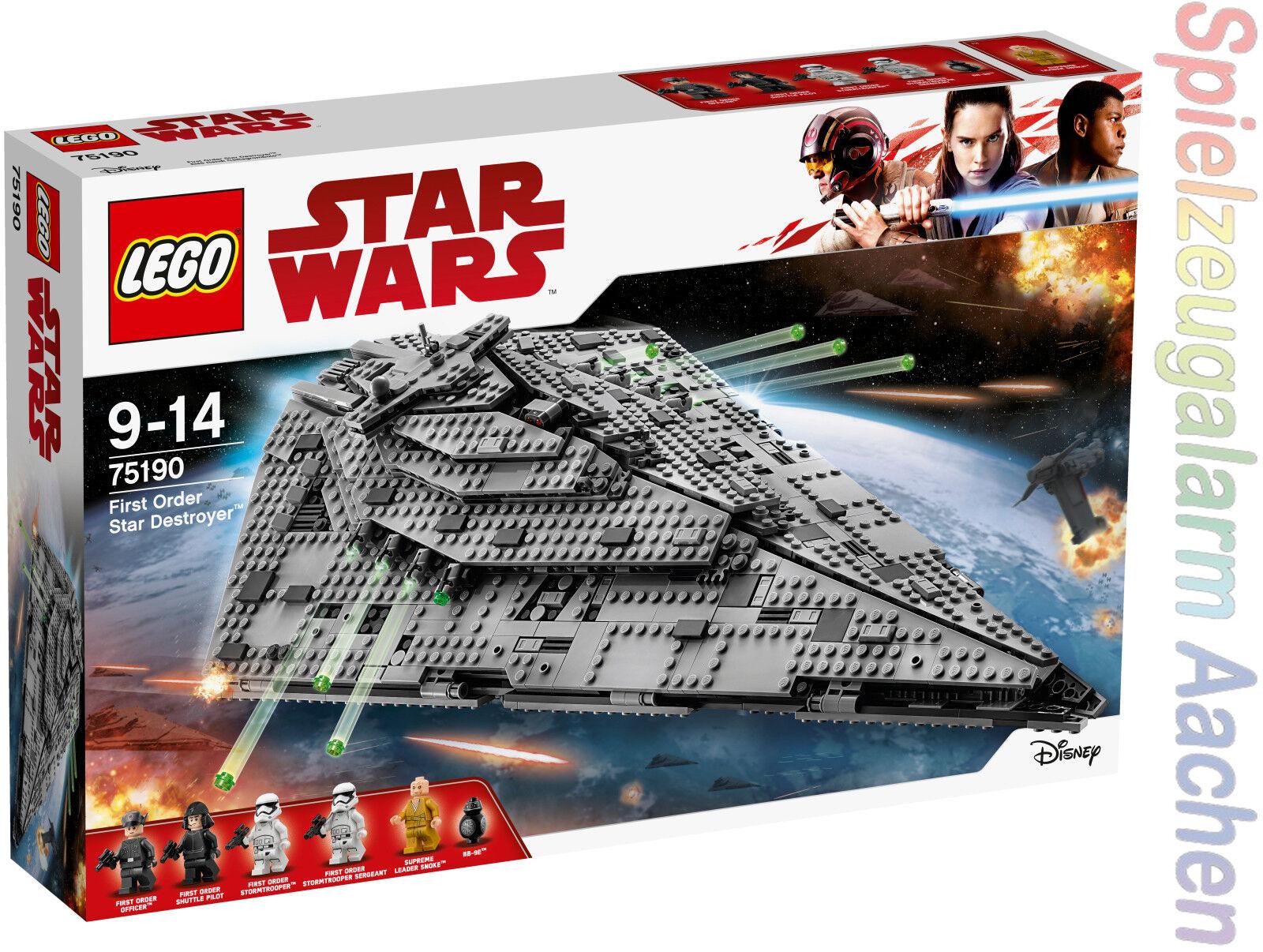 LEGO ® Star Wars 75190 75190 75190 First Order Star Destroyer ™ d1d6bb