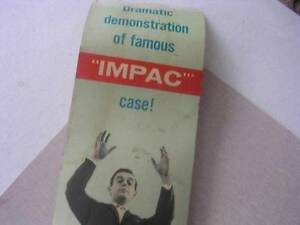 "Vintage R C A Store Display Advertising for ""Impac"" Case for R C A Radios"