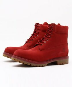 01860f39b38 Details about Timberland 6 Inch Premium Thread Canvas GS size Boots RED  TB0A1VI7