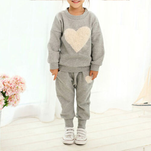 Toddler Kids Baby Girls Tops Shirt Pants Outfits Clothes Set Casual Tracksuit