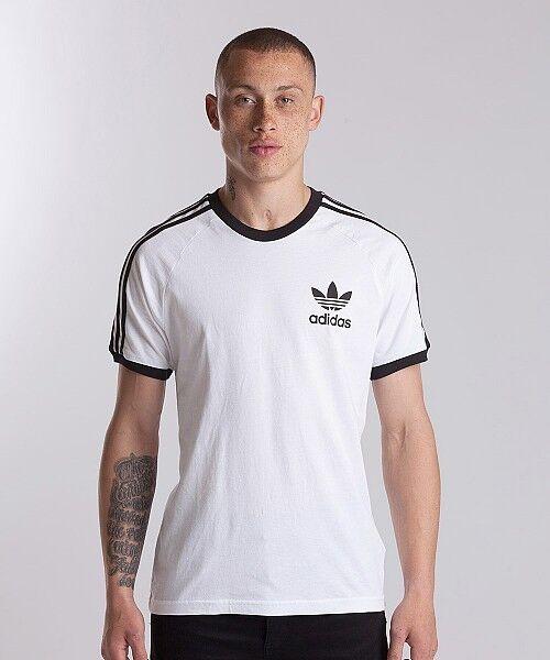the latest d5631 558f5 adidas Mens Originals California Tee T-shirt White AZ8128 UK Size Large for  sale online   eBay