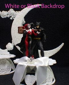 Batman & Harley Quinn Cake Topper Top Wedding Birthday Shower Groom ...