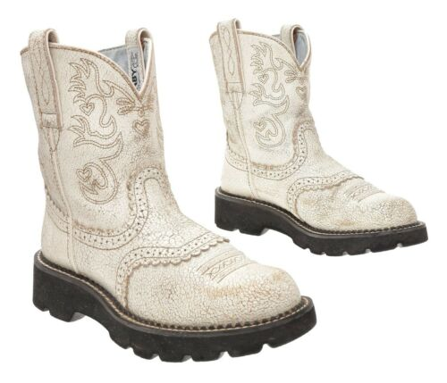 ARIAT FATBABY Cowboy Boots 6.5 B Womens White Leat