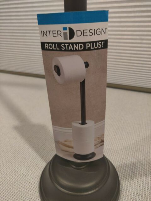 Interdesign Kent Standing Toilet Paper Holder Canister With Lid For Storage For Sale Online Ebay