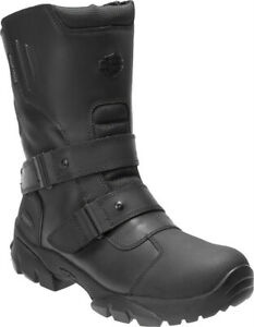 Harley-Davidson-Men-039-s-Hartnell-Black-Waterproof-Motorcycle-Riding-Boots-D96181