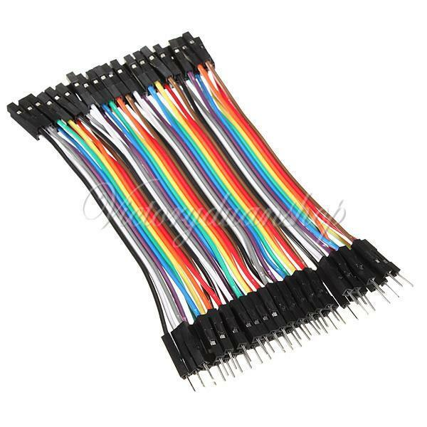 40pcs 1-pin 10cm 2.54mm M-F Breadboard Connector Jump Cable Wire for Arduino