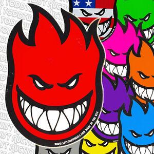 Spitfire-Ruedas-Skateboard-pegatina-Llameante-Cabeza-Logo-Logos-amp-colores-surtidos