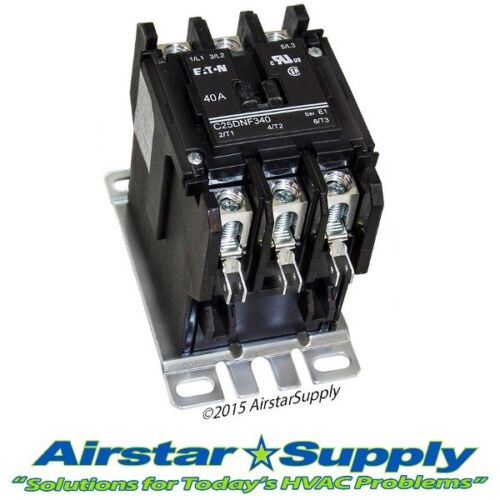 Cutler Hammer Contactor C25DNF340T Eaton 40 Amp • 3 Pole • 24V Coil