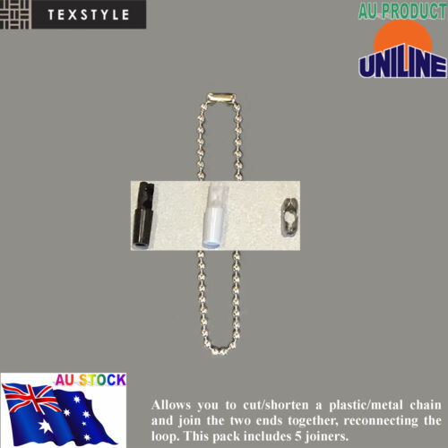 Roller Blind Stainless//Plastic Chain Joiner Connector Vertical Roman Holland X10