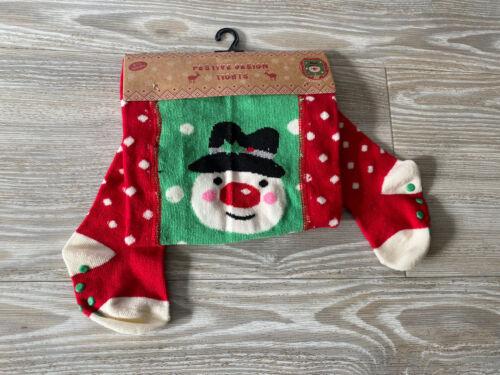 Baby Snowman Christmas Tights