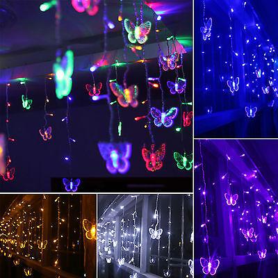 3M 96LED Lichterketten Lichtvorhang Ketten Net Licht Weihnachtsbeleuchtung Party