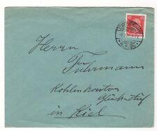 Ü348  BELEGE BRIEFUMSCHLAG KOHLENKONTOR GLÜCK AUF KIEL 1928 ELMSCHENHAGEN