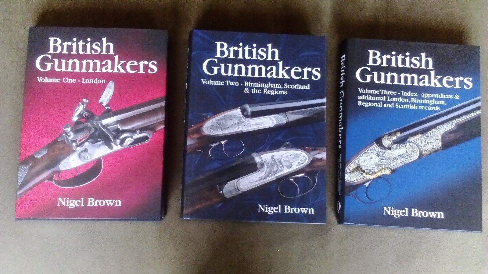 British Gunmakers por Níger Marrón Conjunto de tres libros VOL.1, VOL.2, VOL.3