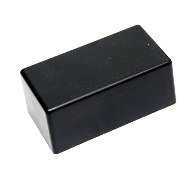 2pc ABS Plastic Box Case Enclosure PS3 125x60x40mm LxWxH Aluminum Base Black