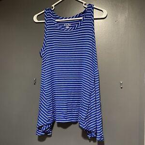 ART-CLASS-Striped-Asymmetrical-Swing-Tank-Tunic-Top-Shirt-Girls-14-16