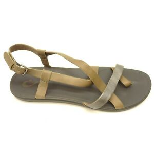 Details about Olukai Upena US 11 EU 41 Leather Walking Casual Comfort Womens Sandals