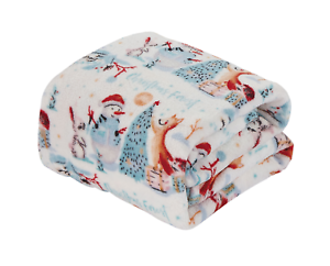 Ultra-Cozy-amp-Soft-Christmas-Holiday-Christmas-Forest-Plush-Warm-Throw-Blanket