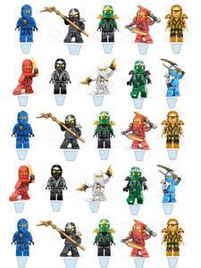 Lego-Ninjago-Kai-Lloyd-Cole-Nya-Essbar-Torten-Muffin-Aufleger-Bild-Party-Deko-neu