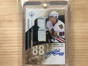 Patrick-Kane-2009-10-Upper-Deck-Ultimate-Collection-Patch-Autograph-10-Mint