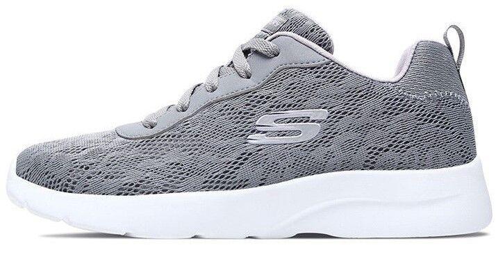 New Skechers Air Cooled Memory Foam Home Spun Trainer Walking shoes Grey Lavinder
