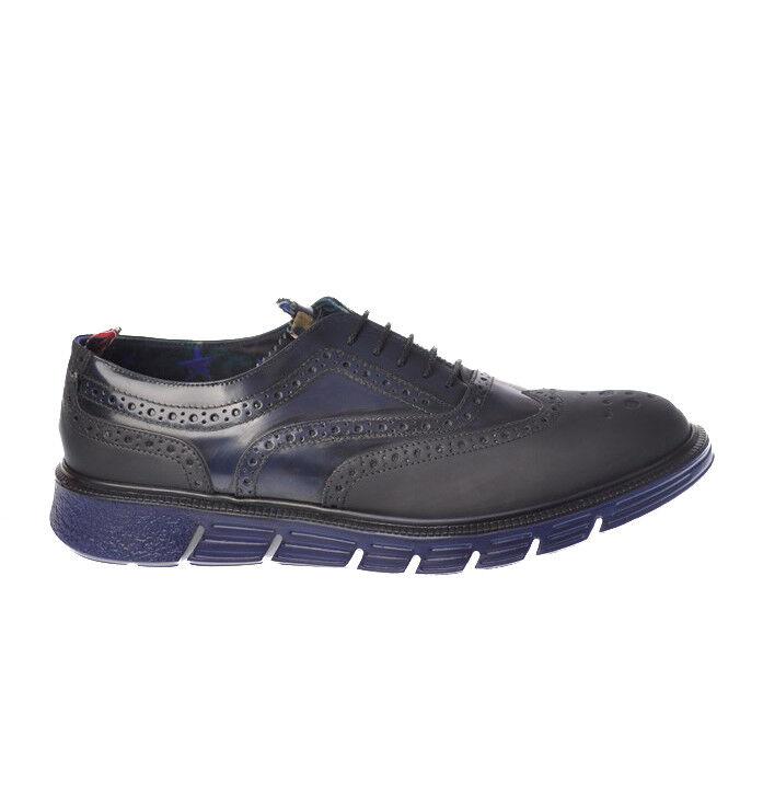 YAB-Zapatos de Cordones-Azul-Masculino - 2710429N174131