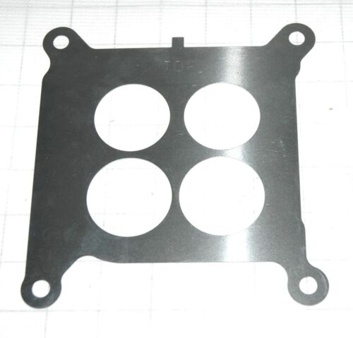 1965-67 BASE PLATE TO INTAKE GASKET /& SS BAFFLE HOLLEY CORVETTE CHEVELLE CHEVY