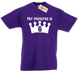 Image Is Loading Princess 6 NEW T Shirt 6th Birthday