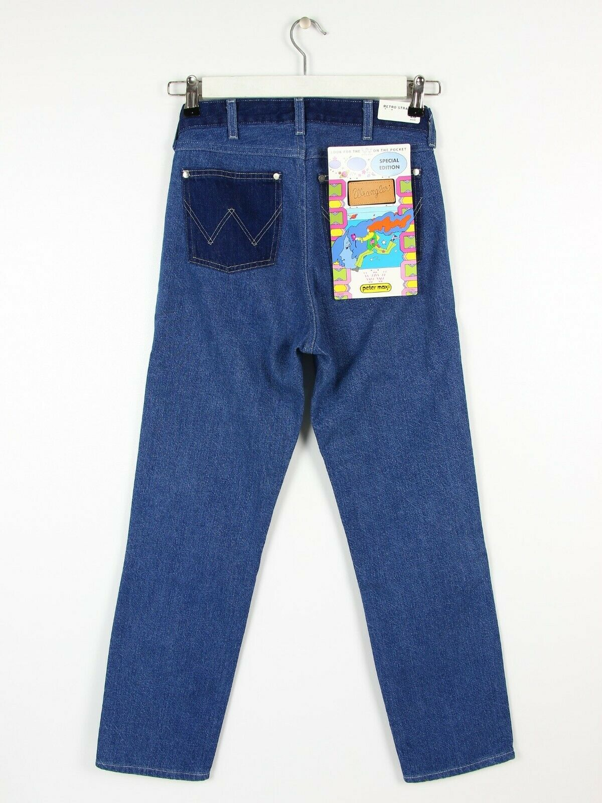NEW WRANGLER X PETER MAX  RETRO STRAIGHT JEANS BOYFRIEND CROP MOM MID ANKLE