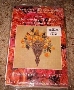 CREATIVE-BEGINNINGS-SILK-RIBBON-EMBROIDERY-034-ROMANCING-THE-ROSE-034-KIT-RK303-NIP