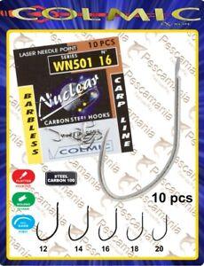Amo-colmic-WN501-nickelato-senza-ardiglione-carpa-carpodromo-barbless