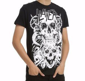 Slayer-SKULLS-T-Shirt-Heavy-Metal-Band-NEW-Licensed-amp-Official