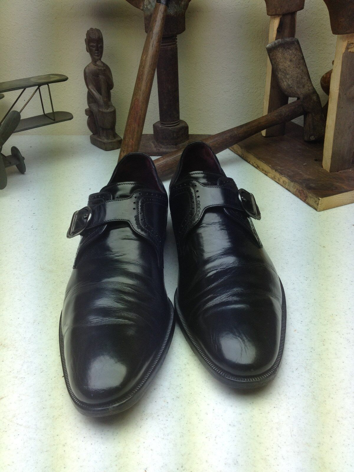 CLASSIC JOHNSTON & MURPHY HAND MADE IN ITALY ITALY ITALY LEATHER POWER BUSINESS schuhe 9.5 M 167651