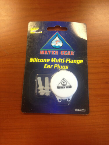 BRAND NEW WATER GEAR SILICONE MULTI-FLANGE EAR PLUGS NIP