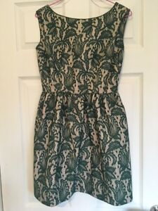 Green Xs pizzo Uk Zara Skater Dress in 8 Bottle 5nXWBqYw6