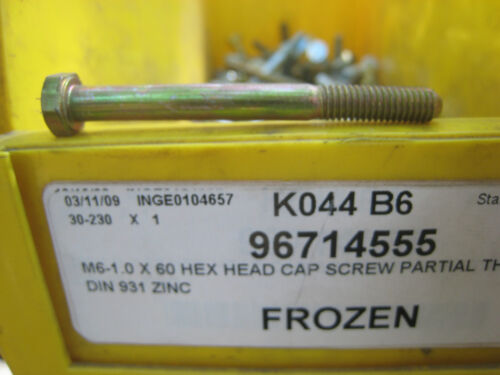 M6  6mm  Hex Head  Bolts 60 mm long 1.0  pitch 10.9  Grade  20 piece lot Yellow