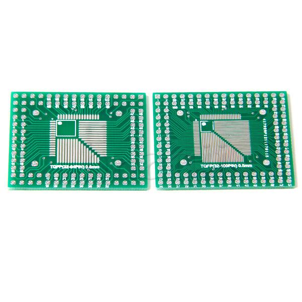 5pcs QFP/TQFP/LQFP/FQFP 32/44/64/80/100 to DIP Adapter PCB Board Converter MA