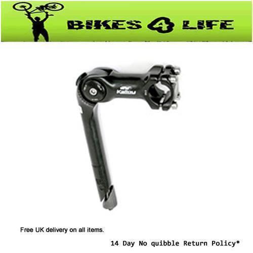 SILVER ADJUSTABLE CYCLE BIKE QUILL HANDLEBAR STEM 25.4mm STEERER