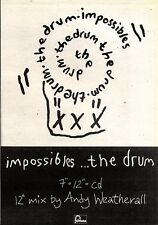 20/7/91 Pgn27 Advert: impossibles New Single From The Drum On Fontana 7x5